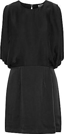 Opening Ceremony Opening Ceremony Woman Open-back Draped Washed-silk Mini Dress Black Size 0