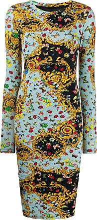 348b08bc5a41 Versace Jeans Couture Barocco butterfly print dress - Blue