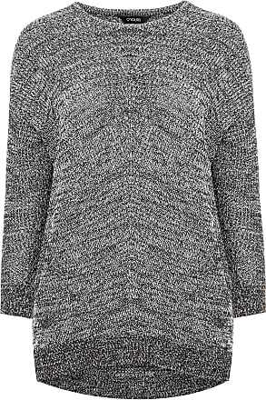 Yours Clothing Clothing Womens Chunky Knitted Jumper Size 30-32 Grey
