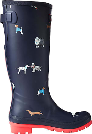 Joules Womens Welly Print Wellington Boots, Blue (MayDay Dogs Maydaydogs), 7 (40/41 EU)
