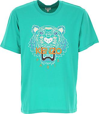 Kenzo T-Shirts für Herren, TShirts Günstig im Sale, Grün, Baumwolle, 2019, L M XL XXL