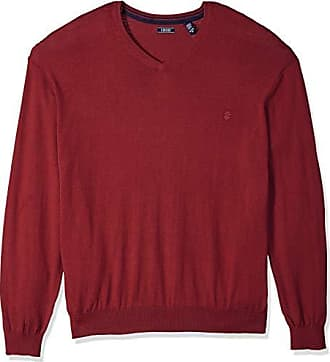 Izod Mens Big and Tall Premium Essentials Fine Gauge Solid V-Neck Sweater, New Biking Red, 2X-Large Big