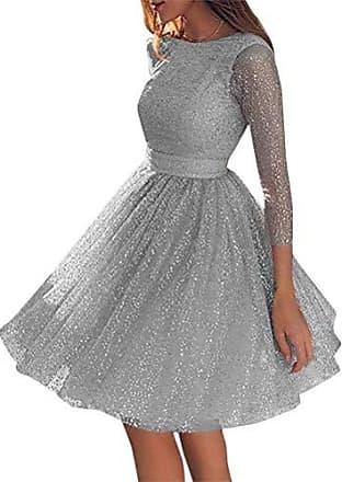 Kleid damen Kolylong/® Frauen Elegant R/ückenfreies Kleid Vinatge Kleid Langarm Festlich Kleider Knielang Minikleid Bodycon Partykleid Cocktailkleid Abendkleid 2 Farbe