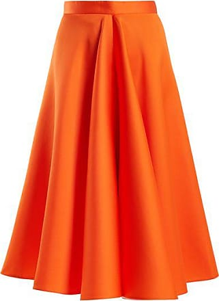 Maison Rabih Kayrouz High-waisted Satin Full Skirt - Womens - Orange