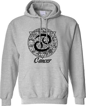 Tim And Ted Horoscope Hoodie Cancer Zodiac Star Sign Birthday Hooded - (Grey/Large)