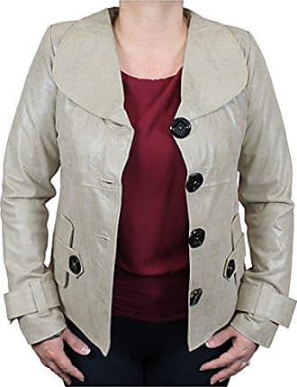 World Traveler Womens Flair Leather Distressed Jacket-Small, Taupe