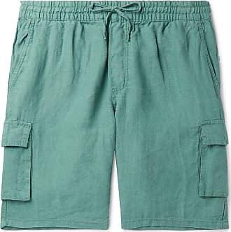 Onia Tom Wide-leg Linen Cargo Shorts - Green