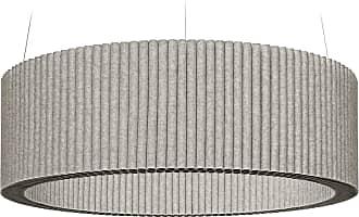 Hey-Sign Welle Deckenobjekt L Ø120cm - grau hellmeliert/Filz in 3mm Stärke/höhenverstellbar/inkl. Aufhängevorrichtung