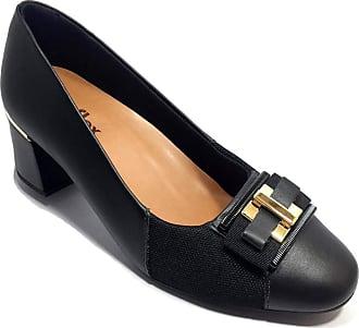 Usaflex Sapato Scarpin Couro Usaflex Joanete Fivela - Preto - 34