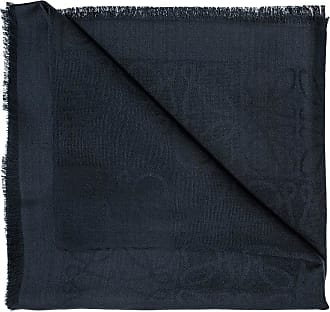 Loewe Scarf With Logo Womens Navy Blue