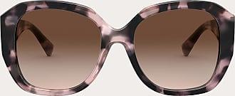 Valentino Valentino Occhiali Squared Acetate Frame With Vlogo Signature Women Havana/gradient Brown Acetate 100% OneSize