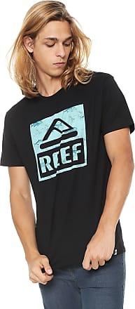 Reef Camiseta Reef Map It Logo Preta