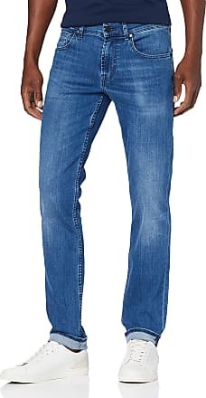 7 For All Mankind Mens Slimmy Slim Jeans, Blue (Mid Blue Pm), 32W / 34L