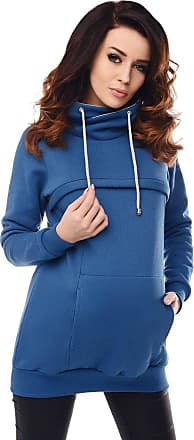 Purpless Maternity Breastfeeding Sweatshirt Cowl Neck Pullover Nursing Woman Top 9054 (16, Jeans)