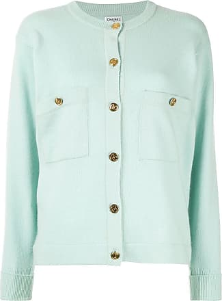 Chanel button-embellished cashmere cardigan - Green
