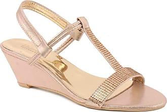 Unze Unze Women Zara Glimmering Wedge Heel Sandals UK Size 3-8 - 89213-9A