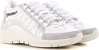 40fc6785845 Dsquared2 Sneaker Donna On Sale in Outlet, Bianco, pelle, 2017, 36.5