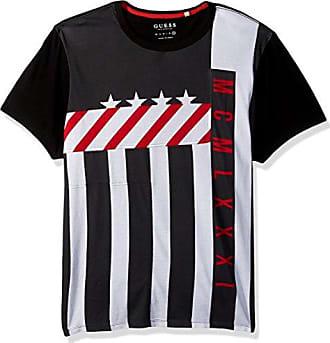Guess Mens Color Moto T-Shirt, Jet Black/Multi M