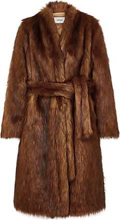 Nanushka Oversized Faux Fur Coat - Brown