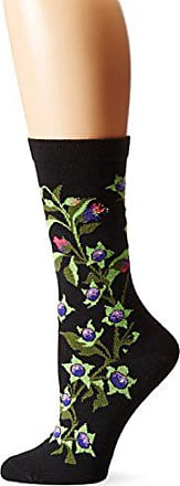 Ozone Womens Floral Sock,Black,One Size