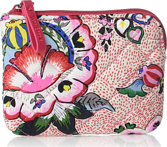 Vera Bradley Womens Iconic Signature Cotton Coin Purse, Stitched Flowers, One Size