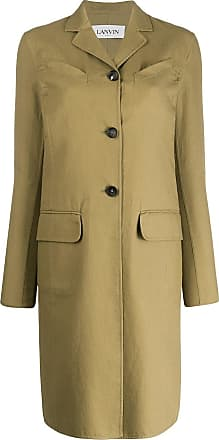 Lanvin single breasted mid-length coat - Green