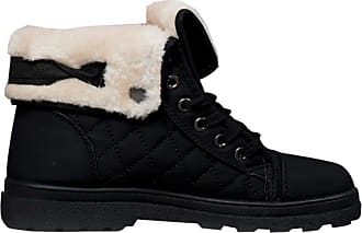 Ikrush Theia Faux Fur Boots Black UK 7