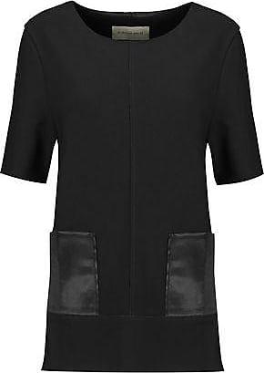 By Malene Birger By Malene Birger Woman Hejdis Satin-paneled Crepe Top Black Size XS