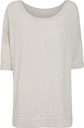 Jockey Womens 3/4 Sleeve Shirt, Coconut Milk Melange, Size L
