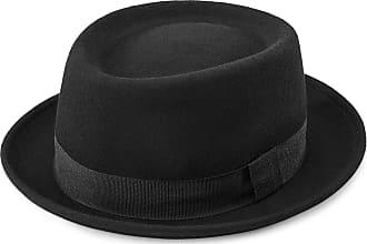 Demarkt Jazz Hut Schlapphut Filzhut Hut mit breiter Krempe modisches und Elegantes Damen Schmuck Rot