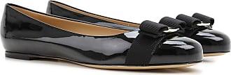 Salvatore Ferragamo Ballet Flats Ballerina Shoes for Women On Sale, Black, Patent Leather, 2017, 7