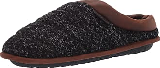 Dearfoams Womens Quilted Nylon Clog with Collapsible Heel Slipper, Black, Medium