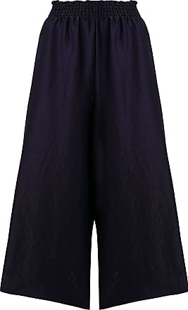 Forte_Forte cropped wide leg trousers - Azul