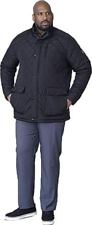 Duke London Duke Mens D555 Justin Quilted Padded Jacket-Black-3XL