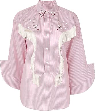 Toga Archives Camisa com franjas - Branco