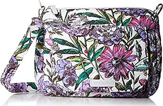 Vera Bradley Carson Mini Shoulder Bag, Signature Cotton, Lavender Meadow