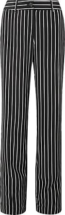 Equipment Lita Striped Washed-silk Wide-leg Pants - Black