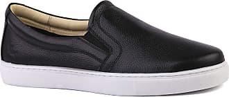 Doctor Shoes Antistaffa Sapatênis Masculino 4048 em Couro Floater Preto Doctor Shoes-Preto-38