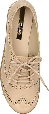 Moleca Sapato Oxford Moleca Bico Redondo Verniz Bege - 5613.518 Tamanho:39;Cor:Bege