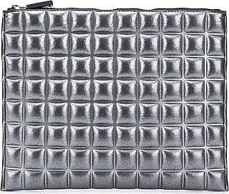 No Ka'Oi Pouch metallizzata con zip - Di colore grigio