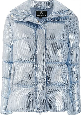 Unreal Fur sequin embellished padded jacket - Blue