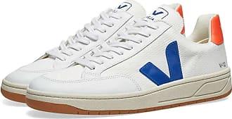 Veja V-12 Mesh Sneaker Weiß, Orange & Blau - 44
