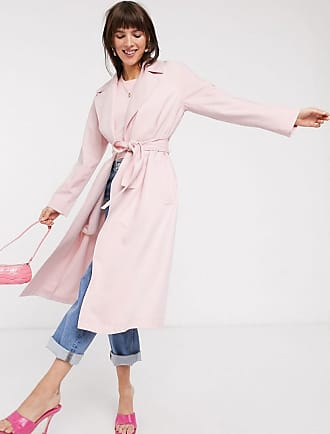 & Other Stories belted lightweight trench coat in pastel pink-Green