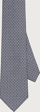 Salvatore Ferragamo Uomo Cravatta in seta stampa Gancini Blu