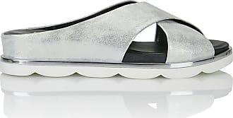 Madeleine Pantolette mit modernem Boden in silberfarben MADELEINE Gr 36 für Damen. Synthetik