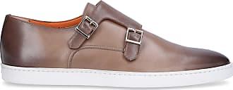 Santoni Monk Shoes 15506 calfskin beige