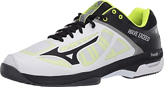 Mizuno Mens Wave Exceed Super Light All Court Tennis Shoe, White/Black, 10.5 UK