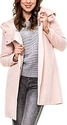 ONLY Damen Woll Mantel onlSedona Link Spring Coat Jacke Kurzmantel mit Kapuze