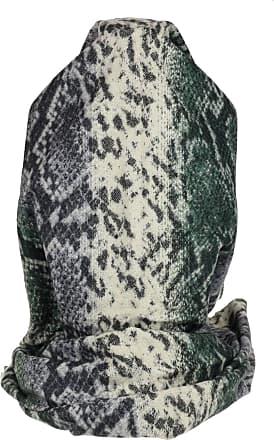 Girly HandBags Girly HandBags Womens Tassel Snake Skin Print Scarf - Green