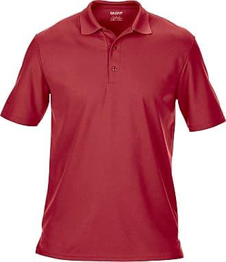 Gildan Gildan Mens Performance Double Pique Sports Shirt Red